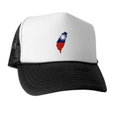 Taiwan Flag and Map Trucker Hat