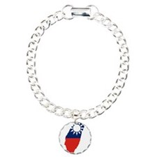Taiwan Flag and Map Bracelet