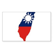 Taiwan Flag and Map Decal