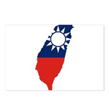 Taiwan Flag and Map Postcards (Package of 8)
