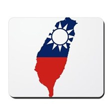 Taiwan Flag and Map Mousepad