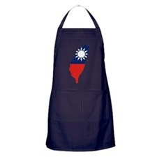 Taiwan Flag and Map Apron (dark)