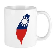 Taiwan Flag and Map Mug