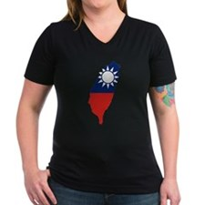 Taiwan Flag and Map Shirt