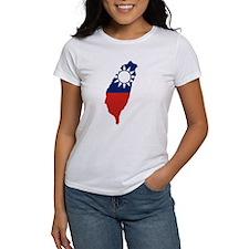 Taiwan Flag and Map Tee
