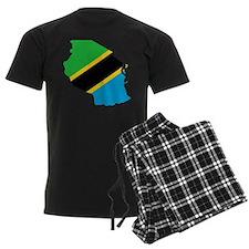 Tanzania Flag and Map Pajamas