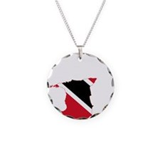 Trinidad and Tobago Flag and Map Necklace