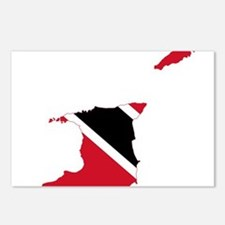 Trinidad and Tobago Flag and Map Postcards (Packag
