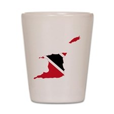 Trinidad and Tobago Flag and Map Shot Glass