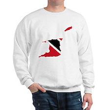 Trinidad and Tobago Flag and Map Sweatshirt