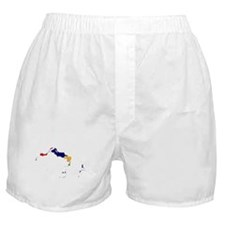 Turks and Caicos Islands Flag and Map Boxer Shorts