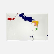 Turks and Caicos Islands Flag and Map Rectangle Ma