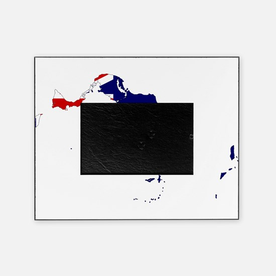 Turks and Caicos Islands Flag and Map Picture Frame