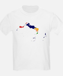 Turks and Caicos Islands Flag and Map T-Shirt