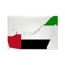 United Arab Emirates Flag and Map Rectangle Magnet