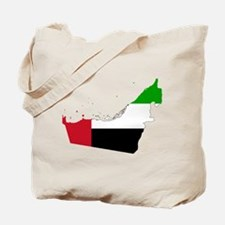 United Arab Emirates Flag and Map Tote Bag