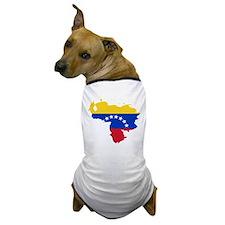 Venezuela Flag and Map Dog T-Shirt