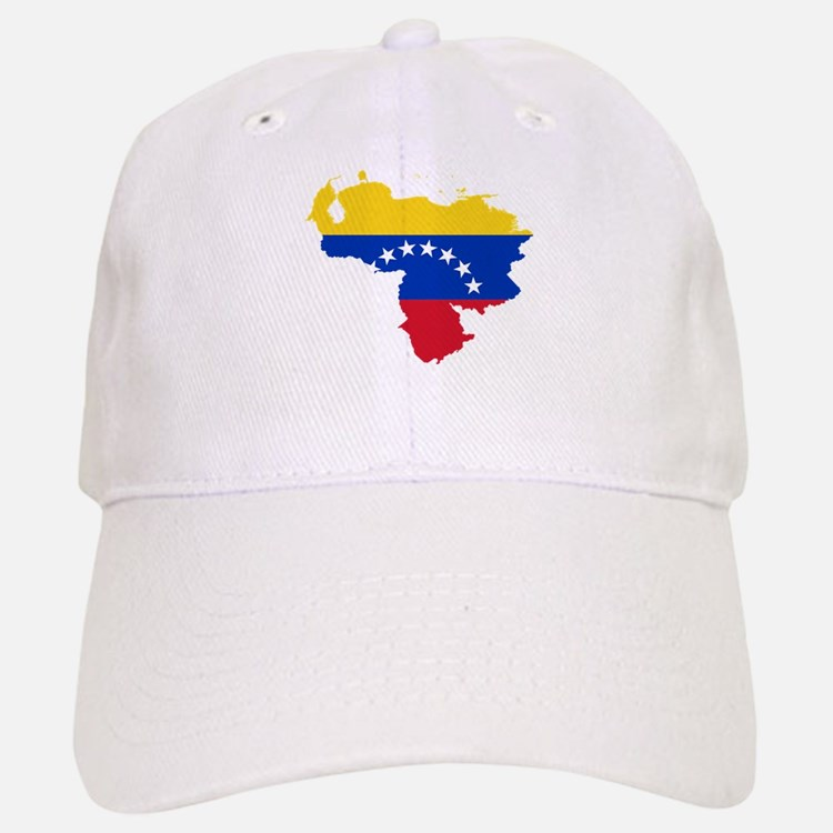 Venezuela Flag and Map Baseball Baseball Cap