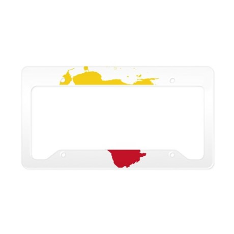 Venezuela Flag and Map License Plate Holder