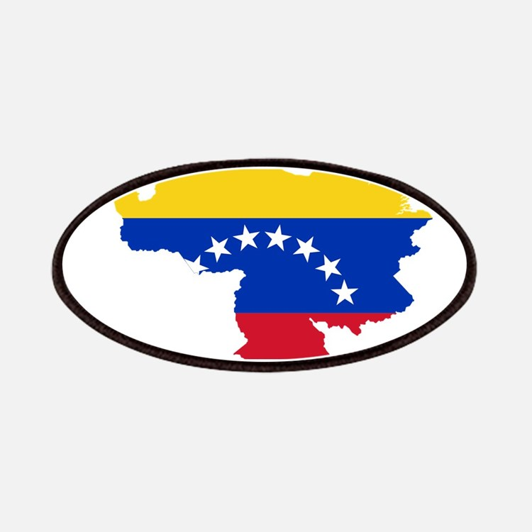 Venezuela Flag and Map Patches