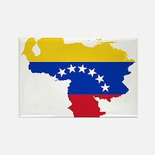 Venezuela Flag and Map Rectangle Magnet