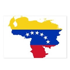Venezuela Flag and Map Postcards (Package of 8)