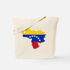 Venezuela Flag and Map Tote Bag