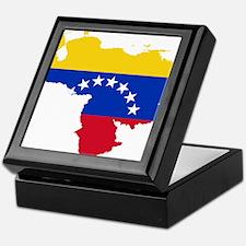 Venezuela Flag and Map Keepsake Box
