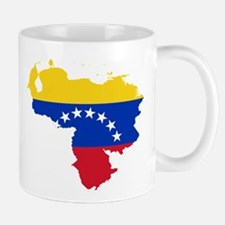 Venezuela Flag and Map Mug
