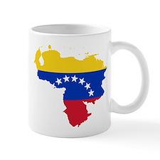 Venezuela Flag and Map Mug