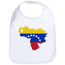 Venezuela Flag and Map Bib