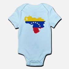 Venezuela Flag and Map Infant Bodysuit