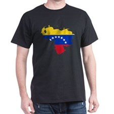 Venezuela Flag and Map T-Shirt