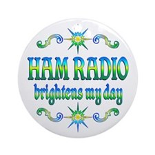Ham Radio Brightens Ornament (Round)