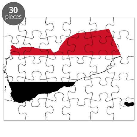 Yemen Flag And Map Puzzle By FlagsAndMaps