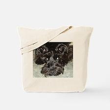Cute Black schnauzer Tote Bag