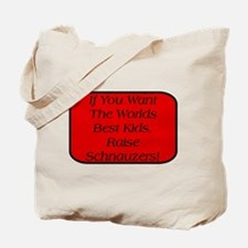 Black Miniature Schnauzer Tote Bag