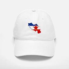 Yugoslavia Flag and Map Baseball Baseball Cap