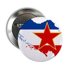 "Yugoslavia Flag and Map 2.25"" Button"