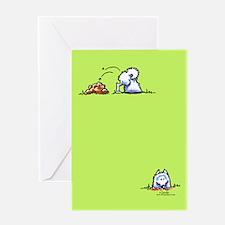Samoyed Eskie Dig Greeting Card