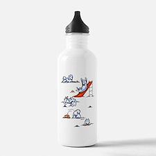 Samoyed Eskie Playground Sports Water Bottle