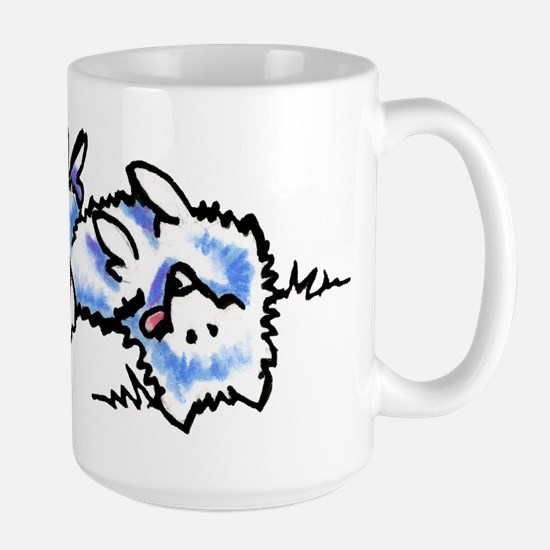 Eskie Play Dead Large Mug