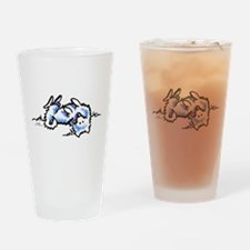 Eskie Play Dead Drinking Glass