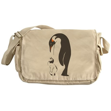 Mother and baby penguin Messenger Bag
