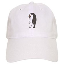 Mother and baby penguin Baseball Cap