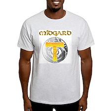 Midgard (Front) Ash Grey T-Shirt