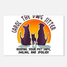 Carol The Dog Sitter with Tag Line Postcards (Pack