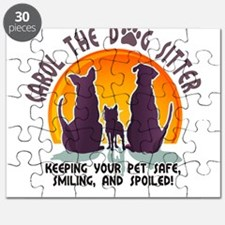 Carol The Dog Sitter with Tag Line Puzzle