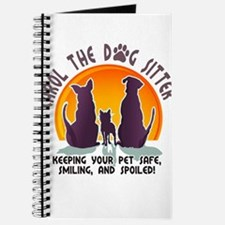 Carol The Dog Sitter with Tag Line Journal
