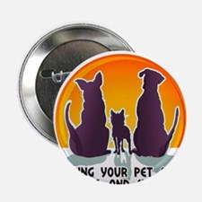 """Carol The Dog Sitter with Tag Line 2.25"""" Button (1"""